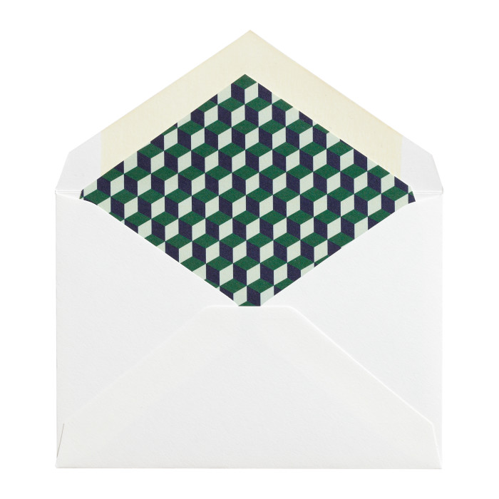 RSVP Reply Card Envelope with Liner Image