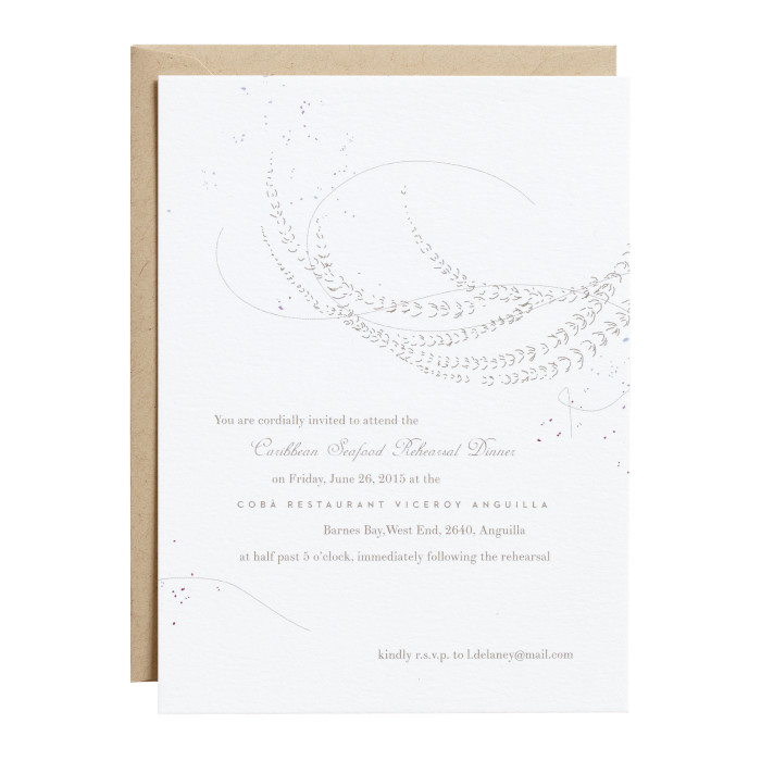Rehearsal Dinner Invitation & Envelope Image
